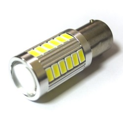 LED Galaxy S25 ( P21W 1156 BA15S ) 5630 30SMD + 5630 3SMD Lens White (Белый)