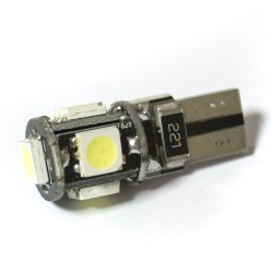LED Galaxy T10 ( W5W ) CAN 5050 5SMD White (Белый)