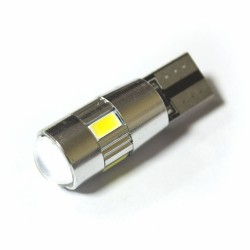 LED Galaxy T10 ( W5W ) CAN 5630 4SMD + 2SMD Lens White (Белый)