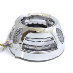 "Маски 2,8"" Panamera DRL LED W+Y CREE"