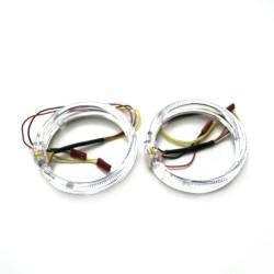 Ангельские глазки 80 мм LED CREE White/Yellow (Белый/Желтый)
