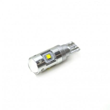 LED Galaxy T10 ( W5W ) CREE 2SMD Lens + CREE 4SMD 25W White (Белый)