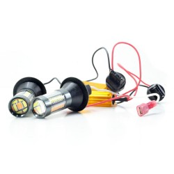 DRL LED Galaxy T20 ( W21W 7440 W3х16d ) 4014 66SMD White-Yellow (Белый-Желтый)