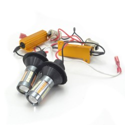 DRL LED Galaxy S25 ( P21W 1156 BA15S ) 4014 66SMD White-Yellow (Белый-Желтый)