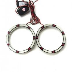 Ангельские глазки LED 3D 80 мм COTTON White/Red (Белый)/(Красный)