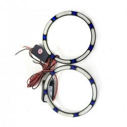 Ангельские глазки LED 3D 80 мм COTTON White/Blue (Белый/Синий)