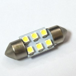 LED Galaxy C5W ( SV8,5 ) 1210 6SMD 31mm White (Белый)
