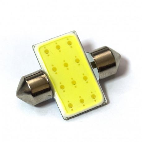 LED Galaxy C5W ( SV8,5 ) HIGH POWER COB 1PCS 12 chip 31mm White (Белый)