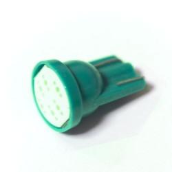 LED Galaxy T10 ( W5W ) COB 1PC 6 chip Green (Зеленый)