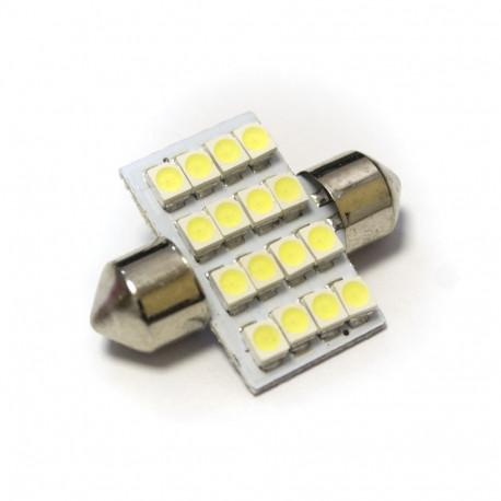 LED Galaxy C5W ( SV8,5 ) 1210 16SMD 36mm White (Белый)