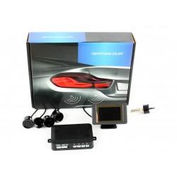 Парковочный радар GALAXY PS04 black 01В-LСD