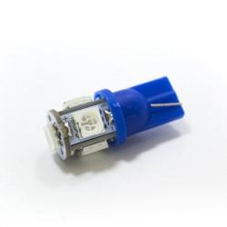 LED Galaxy T10 ( W5W ) 5050 5SMD Blue (Синий)