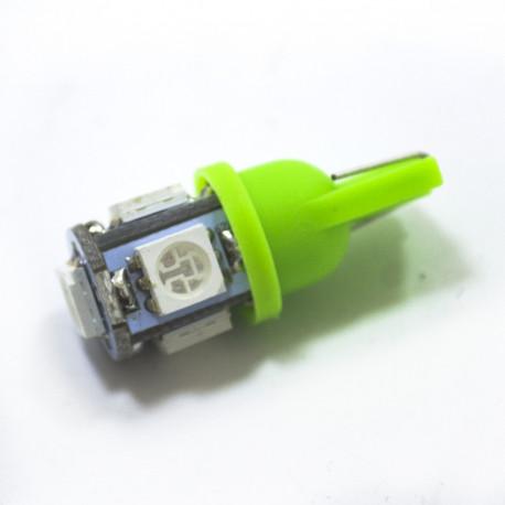 LED Galaxy T10 ( W5W ) 5050 5SMD Green (Зеленый)