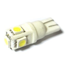 LED Galaxy T10 ( W5W ) CERAMIC 5050 5SMD White (Белый)
